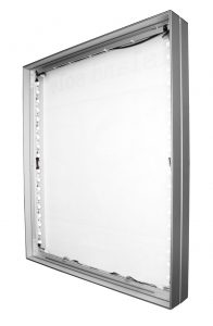 #143: Optional LED-lit or Non-lit 2-sided 143x40mm Ceiling, or Floor Mount aluminum SEG Frame