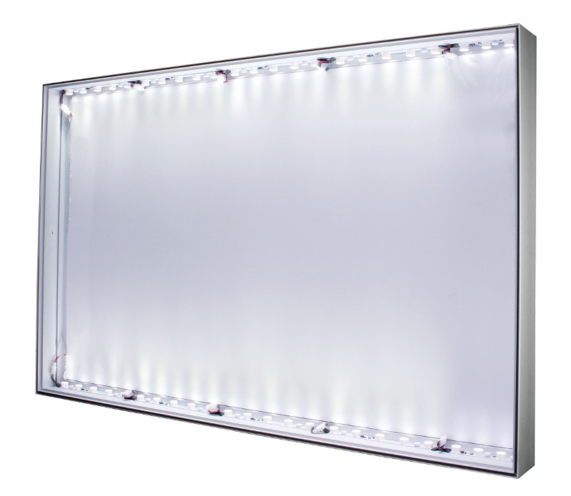 91: LED-lit 1-sided 90x49mm Wall, Ceiling, or Floor Mount aluminum ...
