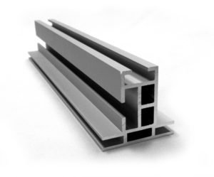 #45: Non-lit 2-sided 44x41mm Wall, Ceiling, or Floor Mount aluminum SEG Frame