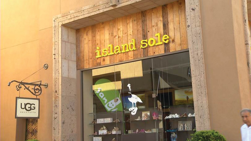 Island Sole Front Store